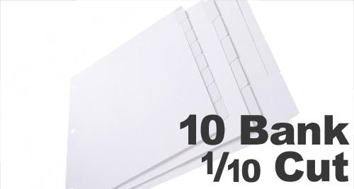Copier Tabs: 10 Bank - 1/10 Cut