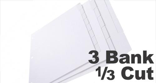 Copier Tabs: 3 Bank - 1/3 Cut