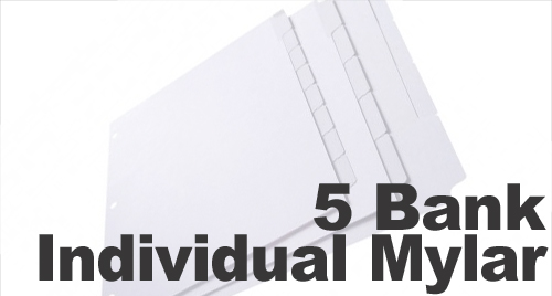 Individual Positions Mylar (Printable, Uncollated) 1/5th Cut