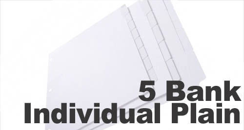Individual Positions (Uncollated) Plain 1/5 Cut