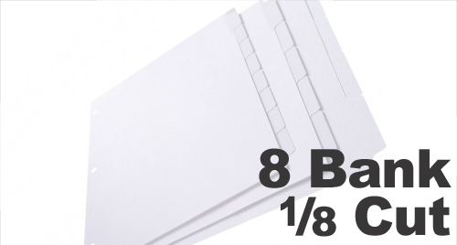 Copier Tabs: 8 Bank - 1/8 Cut
