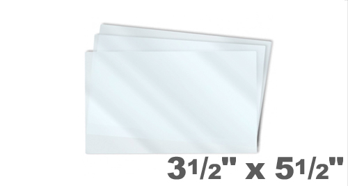 Index Card Laminating Pouches 3-1/2