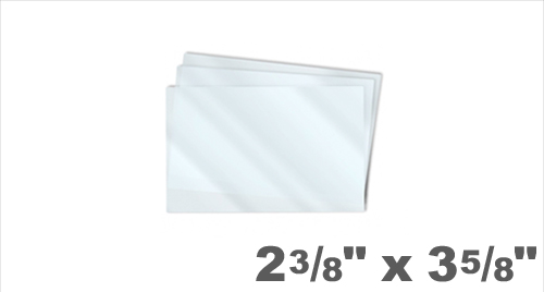 Driver's License Size Laminating Pouches 2-3/8