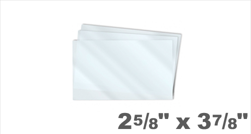 Military Badge Laminating Pouches 2-5/8